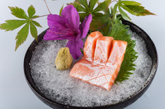 Salmon. Fillet on Ice,kaiseki Stock Photo