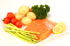 Salmon fillet ingredients Stock Photo