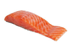 Salmon fillet isolated over white Stock Photos