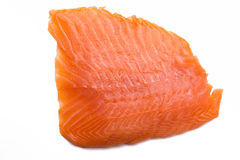 Salmon fillet isolated on white background Royalty Free Stock Images
