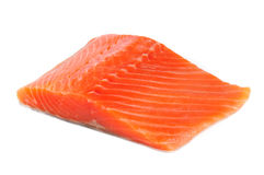 Salmon Fillet Isolated on White Background Royalty Free Stock Photo