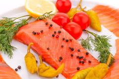 Salmon fillet Royalty Free Stock Image