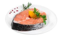 Salmon fillet with lemon Royalty Free Stock Photos