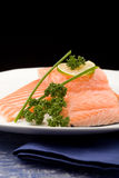 Salmon fillet with lime Royalty Free Stock Photos