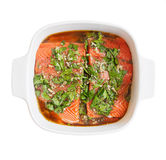 Salmon fillet marinated Royalty Free Stock Photos