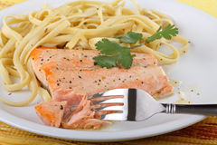 Salmon Fillet Meal Royalty Free Stock Photography
