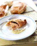 Salmon fillet in pastry crust ,Nantais butter Stock Images