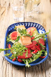 Salmon fillet and salad Royalty Free Stock Photography