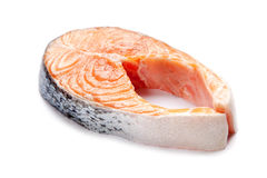 Salmon fillet slices Stock Photography