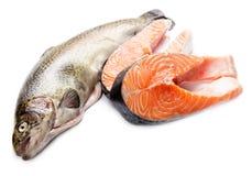 Salmon fillet slices Stock Photo