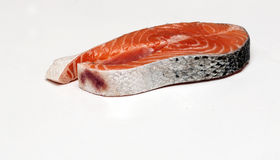 Salmon fillet. Surrounded by white background Royalty Free Stock Image