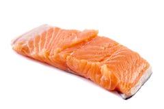 Salmon fillet on white background Stock Photo