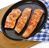 Salmon Fillets Stock Photo