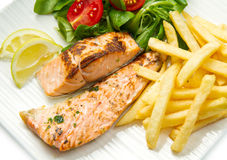 Salmon fillets Royalty Free Stock Photography