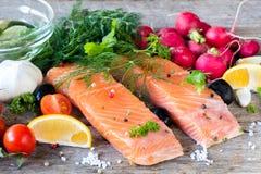 Salmon fillets Stock Image