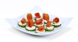 Salmon for finger food Stock Image