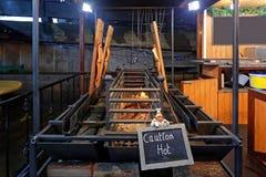Salmon Fire Pit Grill immagini stock libere da diritti