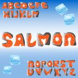 Salmon fish ABC vector illustration