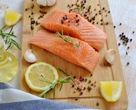 Salmon Fish Cooking Royaltyfri Fotografi