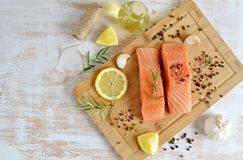 Salmon Fish Cooking Immagine Stock