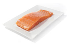 Salmon fish on dish Stock Photo