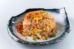 Salmon fish and egg fried rice Royalty Free Stock Photos