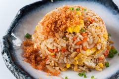 Salmon fish and egg fried rice Stock Image