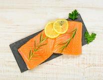 Salmon Fish Fillet Stock Photo