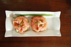 Salmon fish food Stock Image