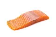 salmon fish fresh meat slice  on white background Stock Image