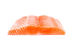 Salmon fish fresh meat slice on white background Stock Photography