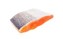 Salmon fish fresh meat slice on white background Royalty Free Stock Image