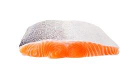 Salmon fish fresh meat slice on white background Stock Photo