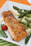 Salmon fish grill Royalty Free Stock Image