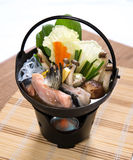 Salmon Fish Head Miso Hotpot Royalty Free Stock Images