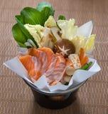 Salmon Fish Hotpot Lizenzfreies Stockfoto
