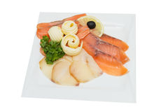 Salmon fish isolated on white background. Clipping path included Stock Photo