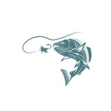 Salmon fish and lure vector design. Template Royalty Free Stock Photo