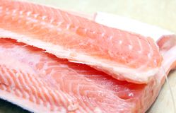 Salmon fish peeled Royalty Free Stock Photos