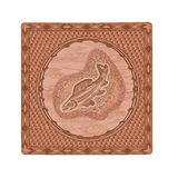 Salmon fish predator woodcarving hunting and fishing theme vector Stock Photography