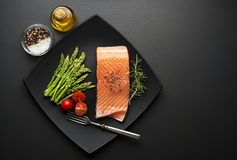 Salmon fish Royalty Free Stock Images
