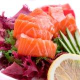 Salmon fish slice Stock Photos