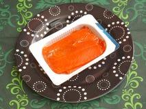 Salmon Fish. Some fresh salmon fish in oil Stock Photos