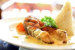 Salmon fish steak Royalty Free Stock Photo