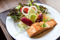 Salmon fish steak. Royalty Free Stock Photography