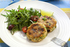 Salmon Fishcakes Royalty Free Stock Images