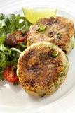 Salmon Fishcakes Stock Photos