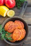 Salmon fishcakes Stock Photo