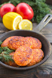 Salmon fishcakes Stock Photography