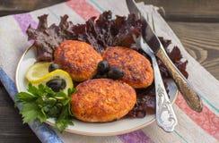 Salmon fishcakes Royalty Free Stock Photos